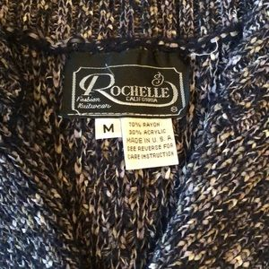 Rochelle California Sweaters - Sweater Vest in grey, black and white
